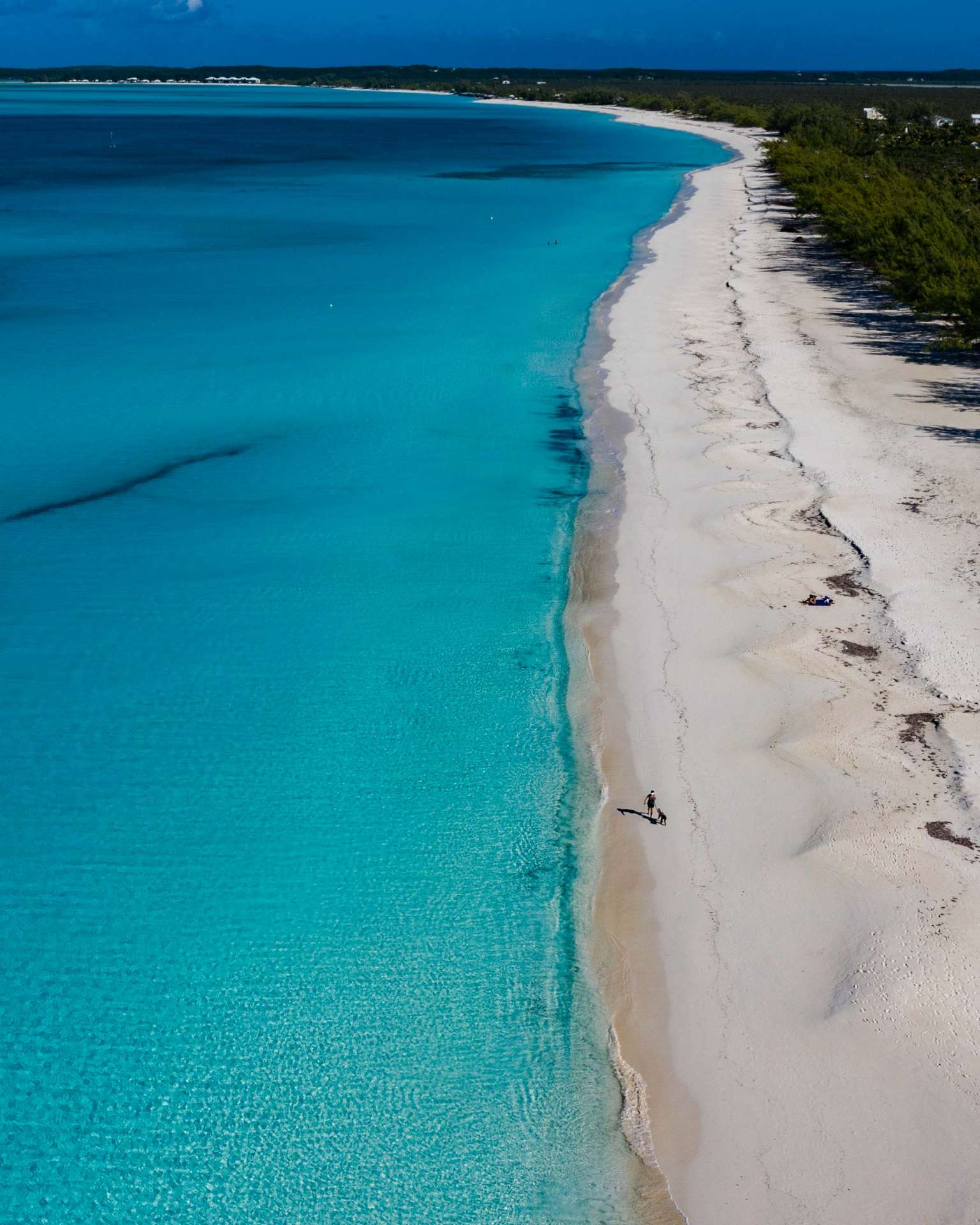 Bahamas Long Island Cape Santa Maria Beach by drone 2