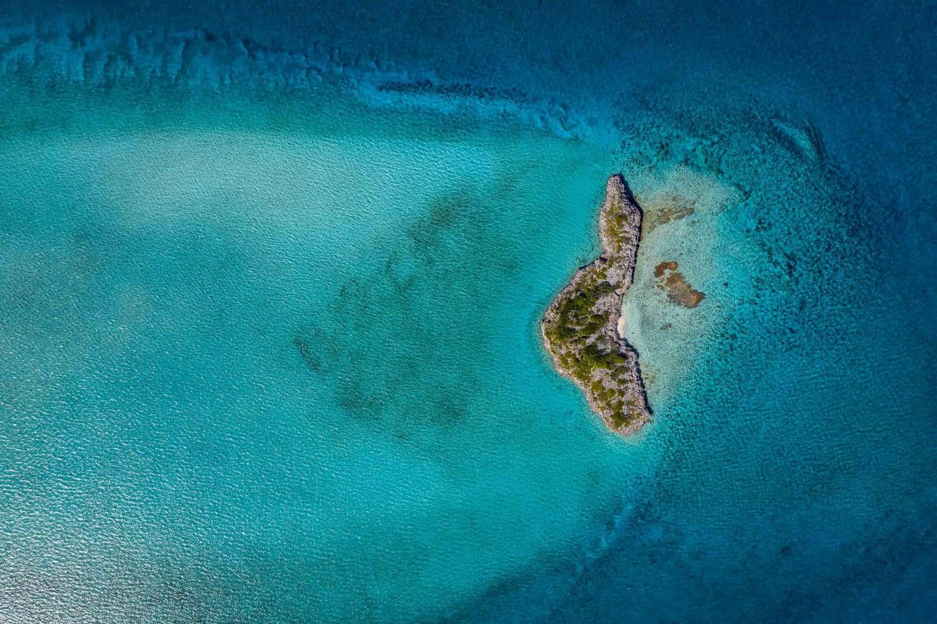 Exuma Cays Bahamas drone aerial view 2