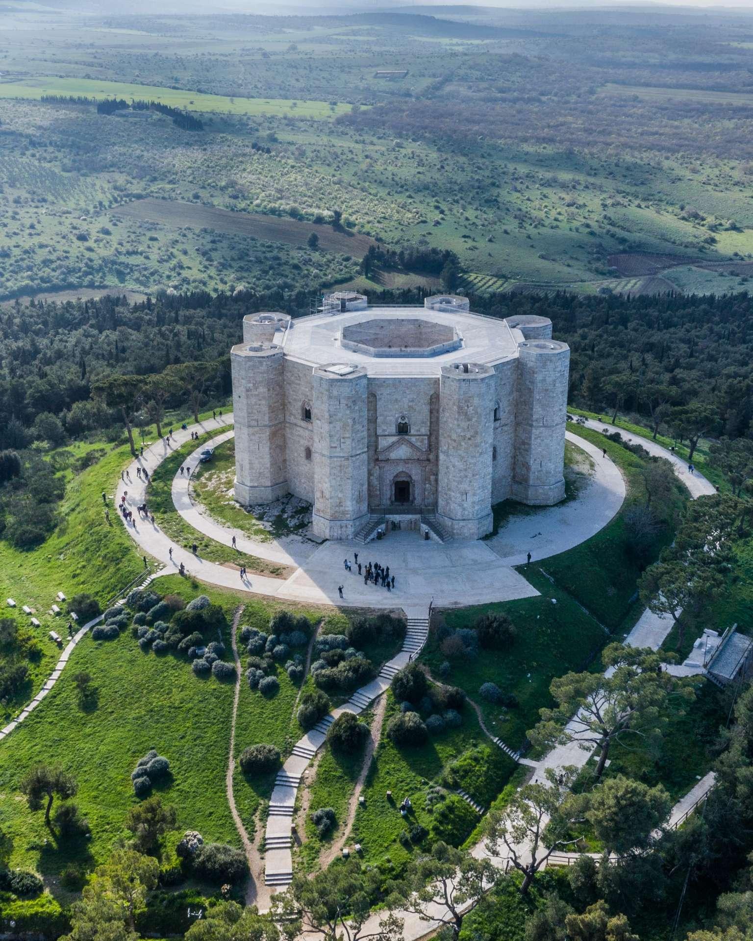Castel Del Monte Drone Aerial View
