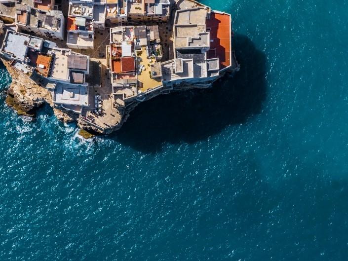 Polignano a Mare Drone Aerial View