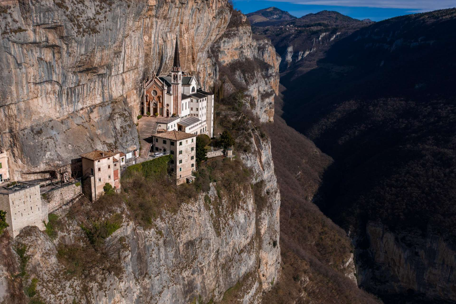 Santuario Madonna della Corona Drone View