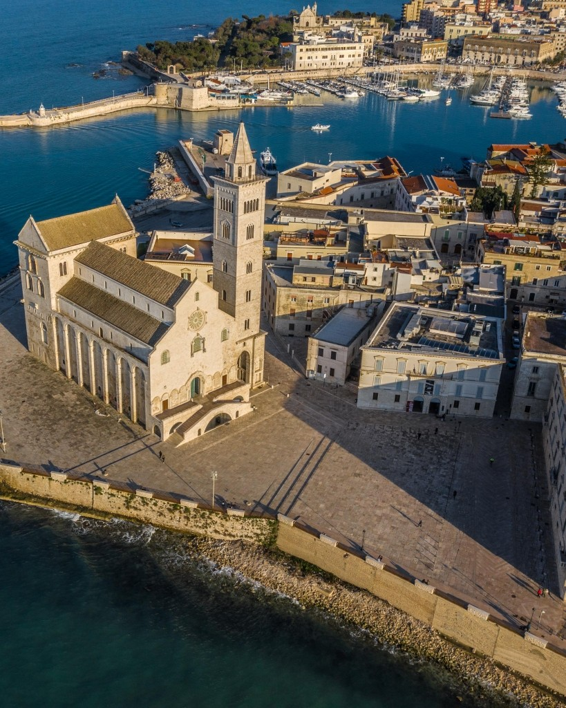 Trani Cathedral Drone Aerial View