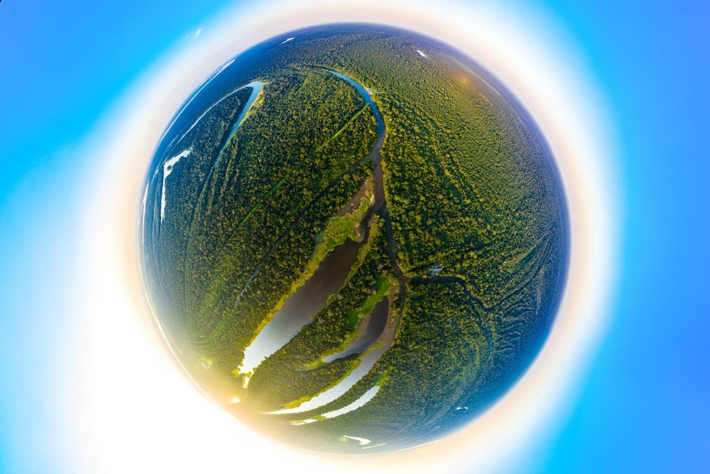 amazon forest iquitos peru drone aerial view little planet