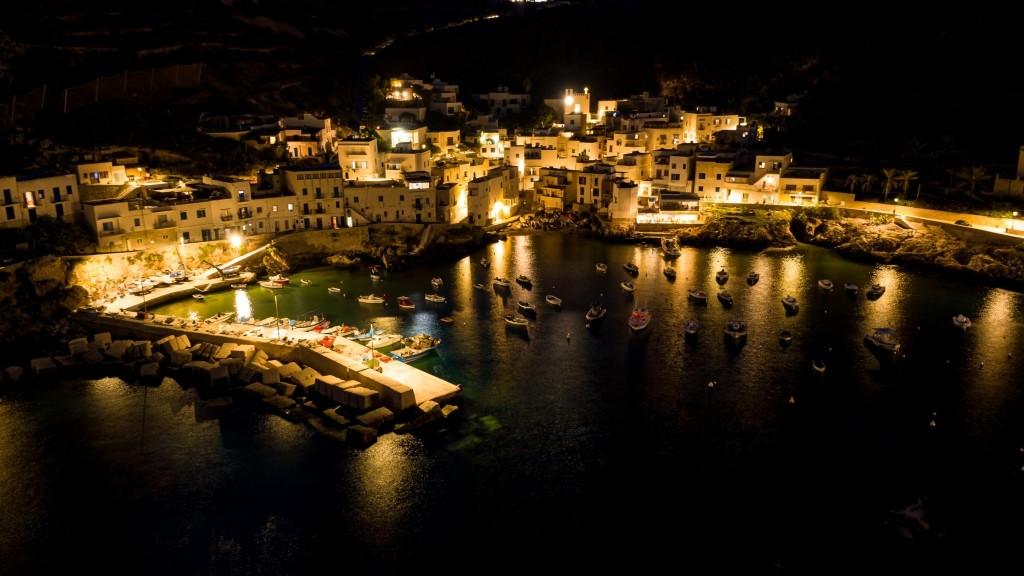 Levanzo Panorama Notturno Drone 3