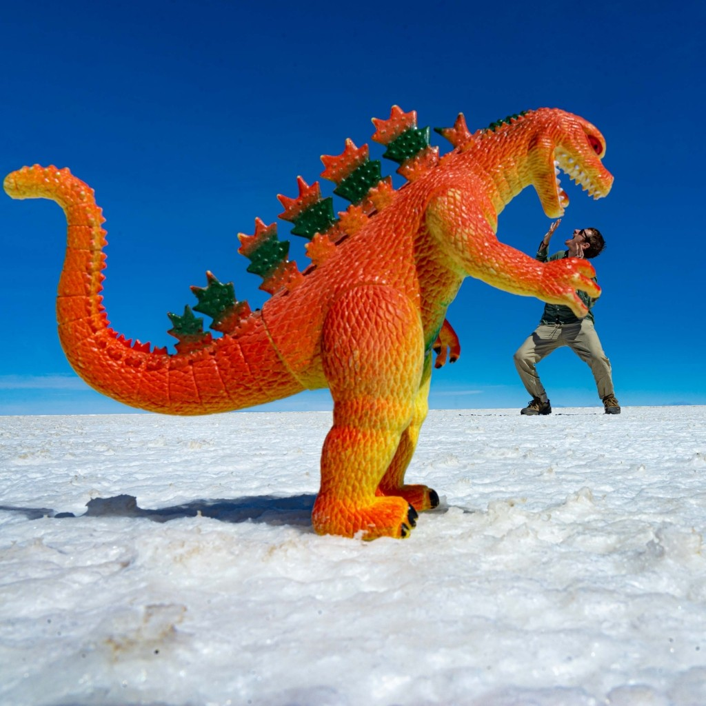 Salar de Uyuni Bolivia world largest salt flat funny photo
