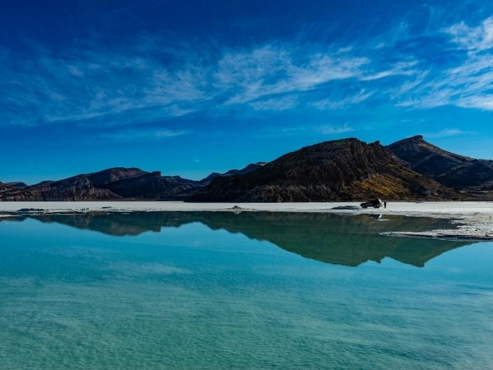 Salar de Uyuni Bolivia world largest salt flat aerial view mirroring effect landscape
