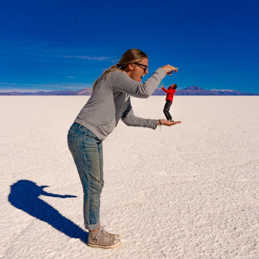 Salar de Uyuni Bolivia world largest salt flat funny photo