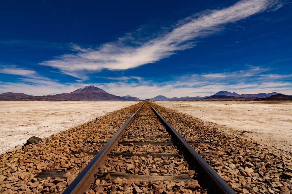 Salar de Uyuni Bolivia world largest salt flat railway