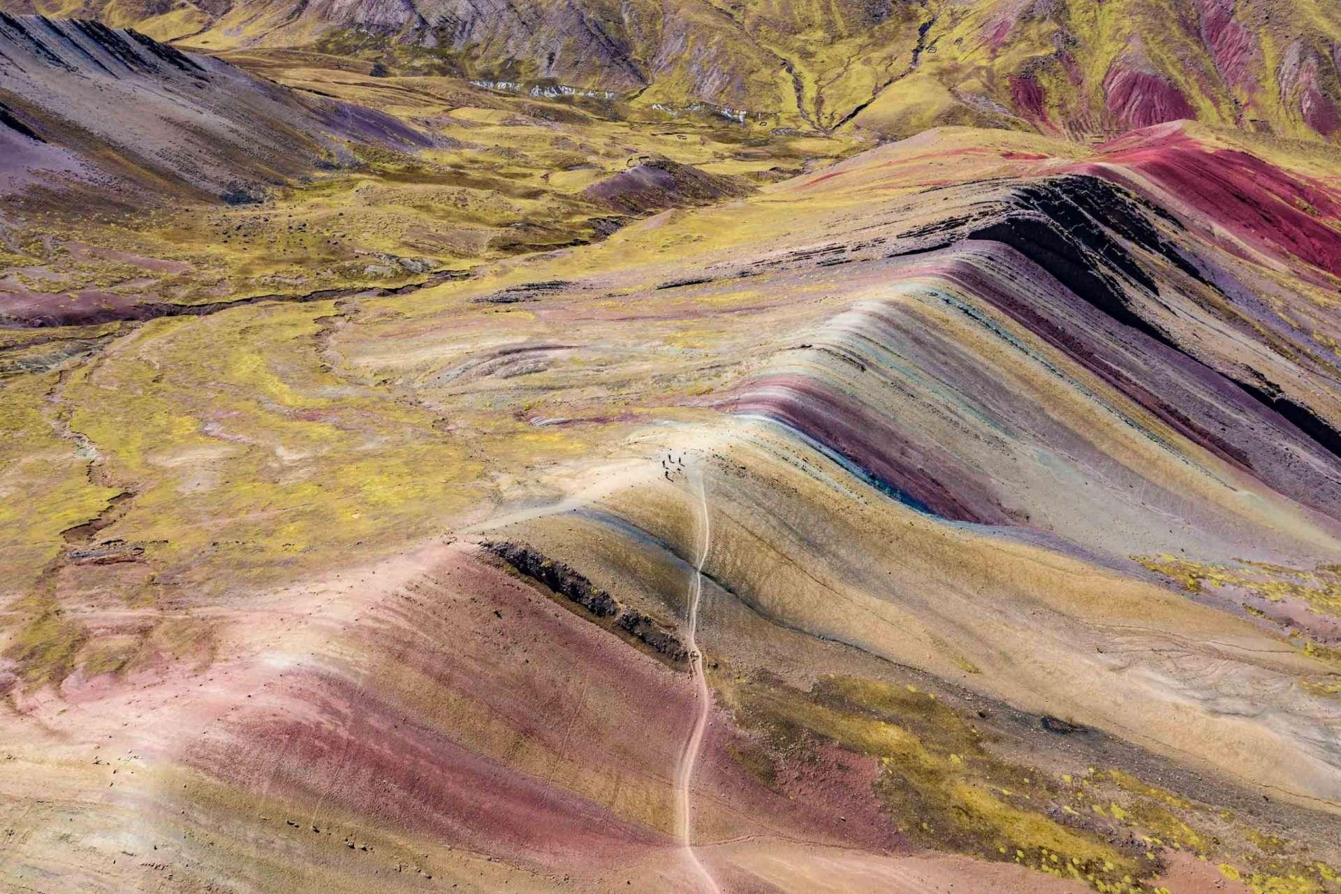 Earth's Rainbow - Palcoyo Rainbow Mountain Cusco Peru Aerial Drone 3