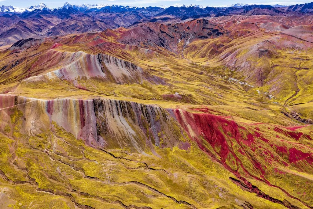 Palcoyo Rainbow Mountain Cusco Peru Aerial Drone 5