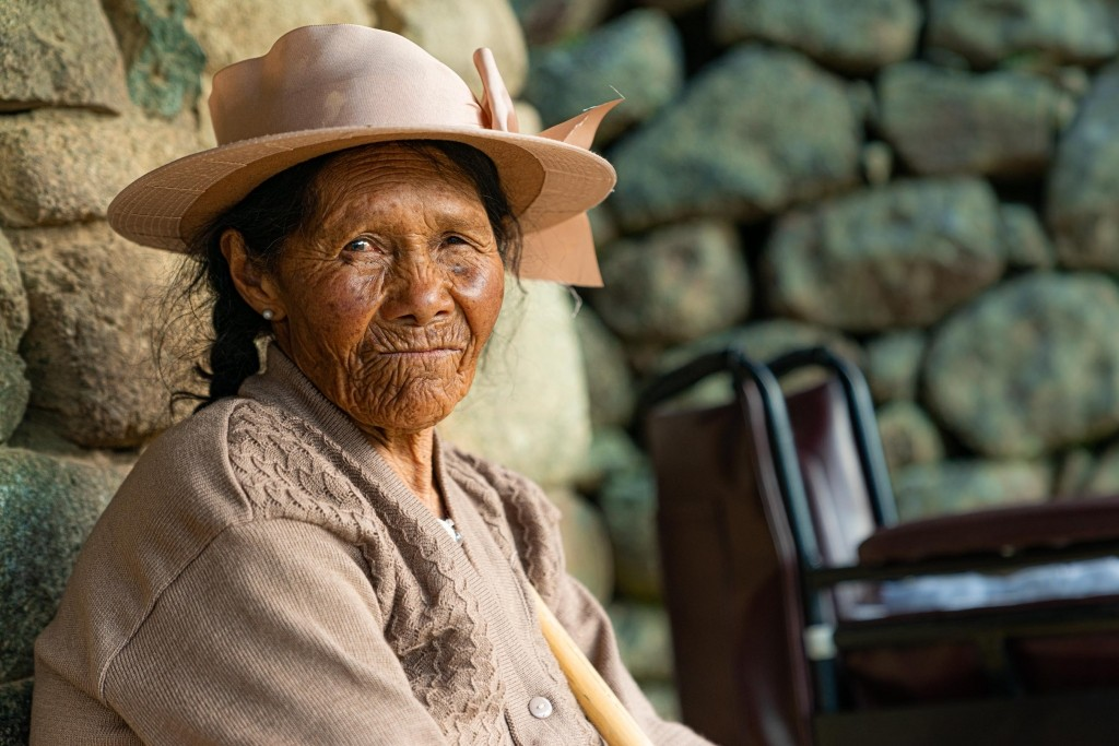 Machu Picchu Old Woman Portait