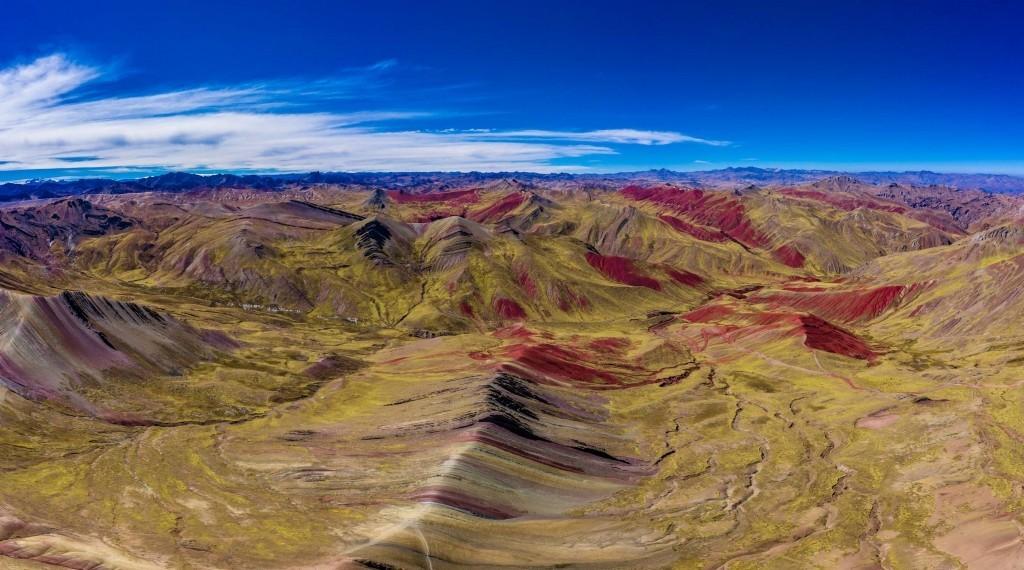 Palcoyo Rainbow Mountain Cusco Peru Aerial Drone 6