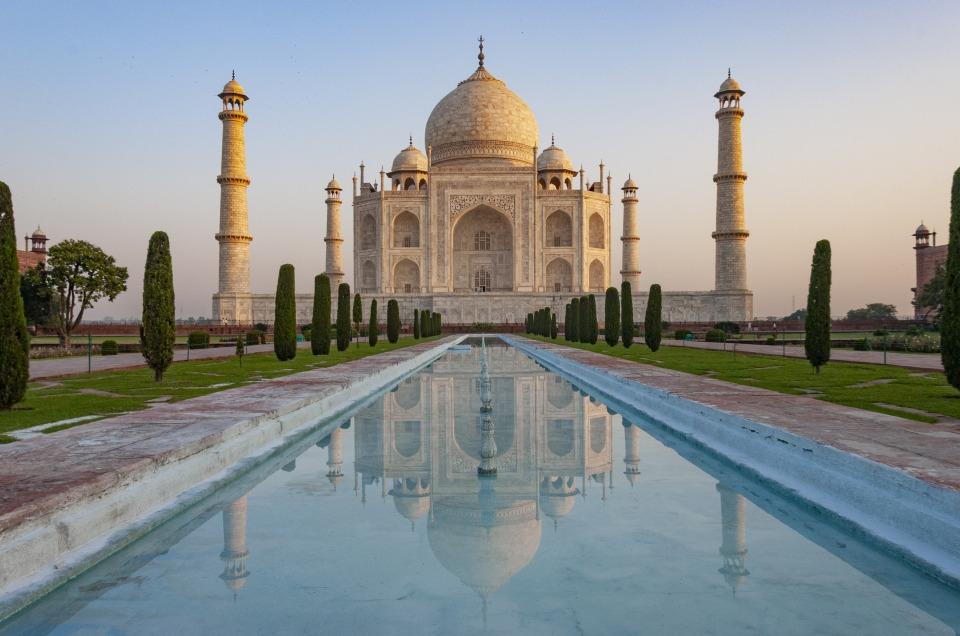 Taj Mahal Agra India New 7 wonders of the world