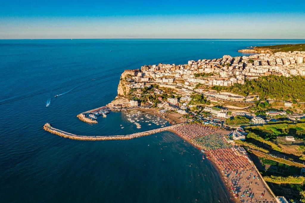 Peschici Gargano Puglia Italy drone view