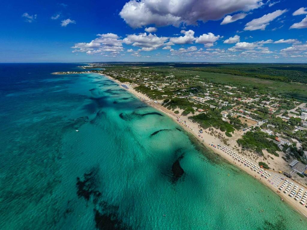 Puglia Salento Punta Prosciutto drone view