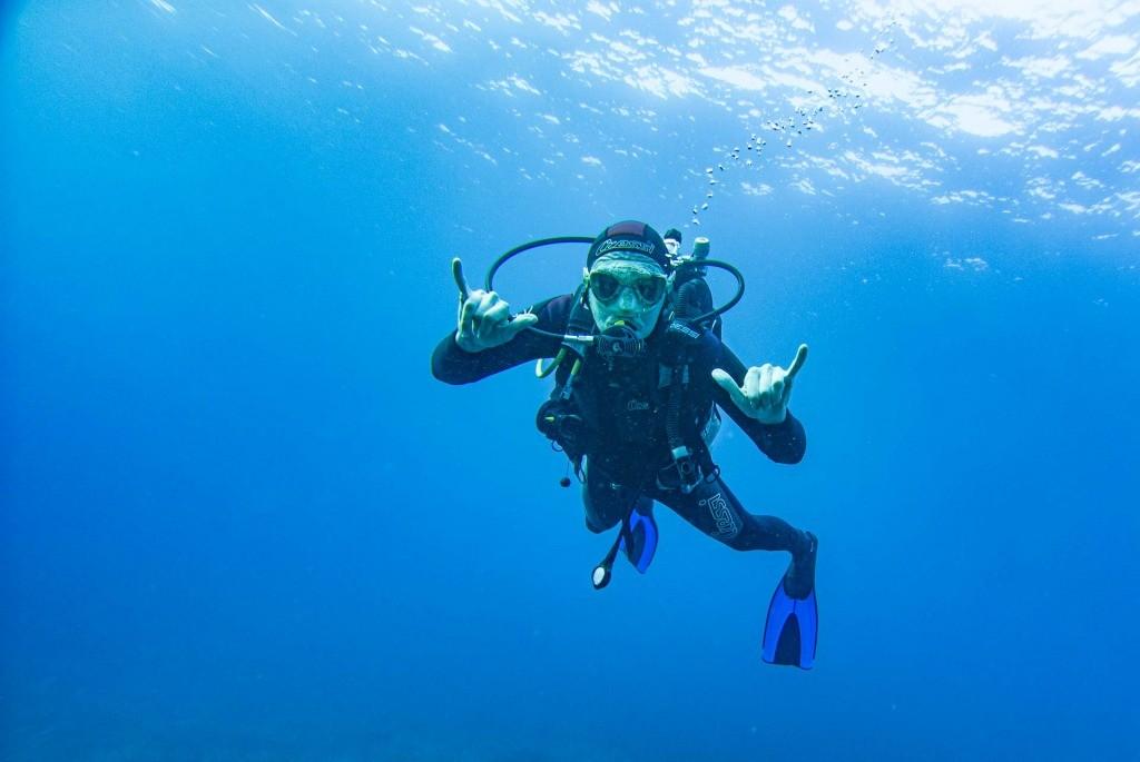enrico pescantini scuba diving