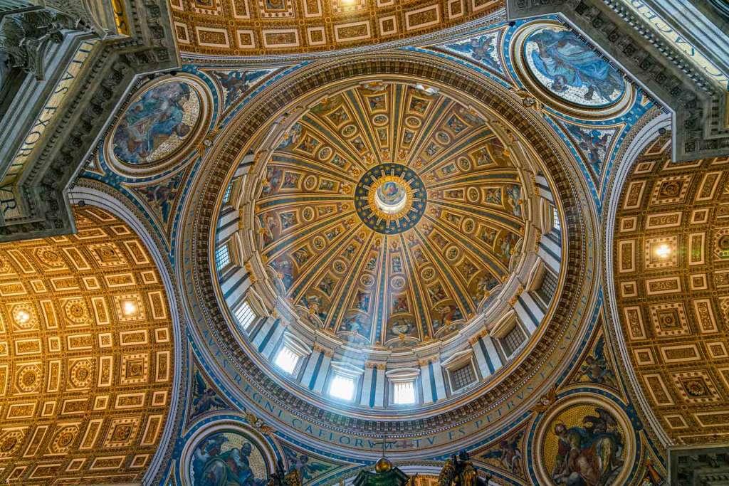 st peter church cupola inside